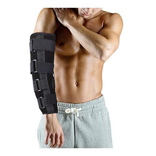 Inmovilizador de codo Estabilizador, Férula de codo Respaldo ajustable Respirable Cinturón de banda ortopédica for estabilizador de fracturas, Túnel cubital, Ulnar, Lesiones, Manga protectora