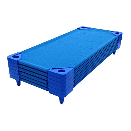 6 pk. - Stackable Standard Daycare Cots - 52'L - Ready to Assemble