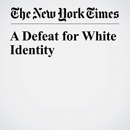 A Defeat for White Identity audiobook cover art