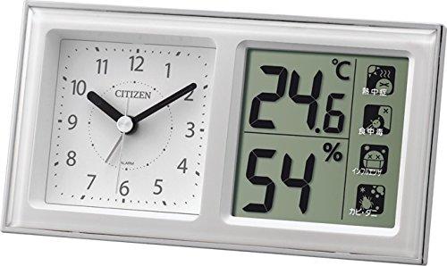 シチズン 温度計 ・ 湿度計 ライフナビ648A アナログ クオーツ 時計 付き 白 CITIZEN 8RE648-A03