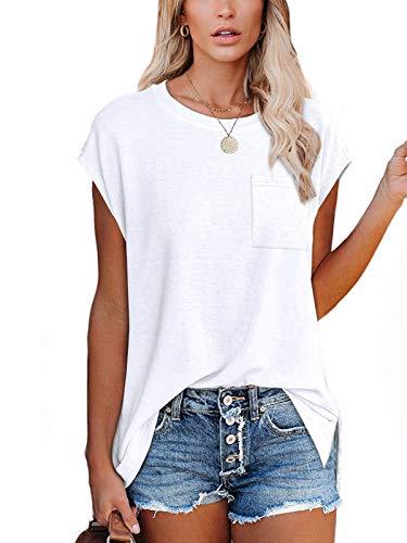 White T Shirts for Women Tops for Women Summer White Shirts for Women White M