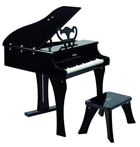 Hape- Pianoforte a Coda per Bambini, Colore Nero, E0320