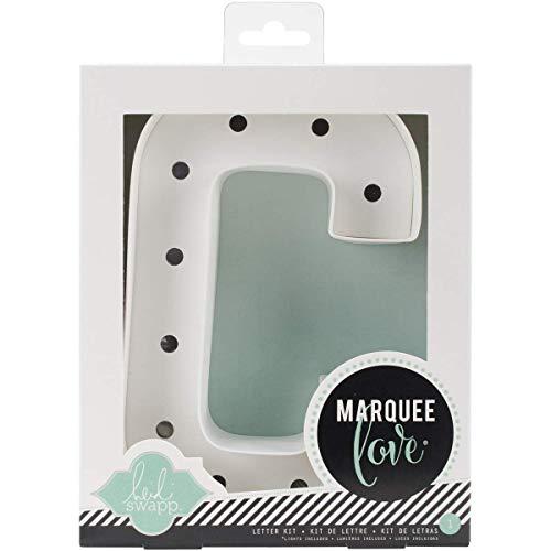 Heidi Swapp Marquee Love Led Letras C, Cartón, Blanco, 21.6x5.6x21.6 cm