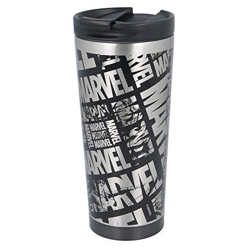 Stor Marvel   Termo Café para Llevar - Taza Termica de Viaje Acero Inoxidable 425 ml   Vaso Hermetico para Te o Café sin BPA con Tapa Antigoteo