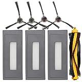 Nrpfell Kit de Accesorios de Reemplazo Compatible para Deebot Ozmo 930 Aspiradora Robótica, 1 Cepillo Principal 3 Filtros de Alta Eficiencia 4 Cepillos Laterales