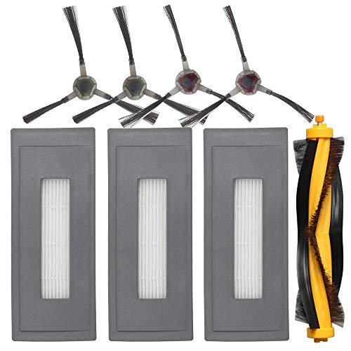 TOOGOO Ersatz Zubeh?r Kit Kompatibel Für Ecovacs Deebot Ozmo 930 Roboter Staubsauger, 1 Haupt Bürste 3 Hoch Leistungs Filter 4 Seiten Bürsten