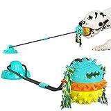 DSHZHM Juguete masticable para Perros con Ventosa,Pelota de Goma para Perros,Juguete Molar para Perros,Juguete Interactivo para Perros Limpieza de Dientes para Mascotas
