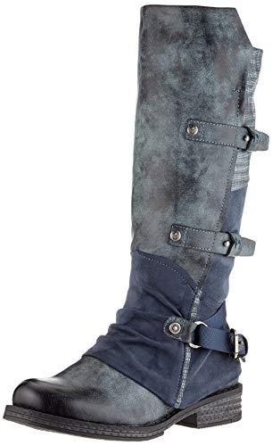 Rieker Damen 92284 Kniehohe Stiefel, grau, 41 EU