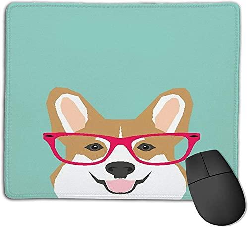 Alfombrilla de ratón para juegos, perro, raza de vector, lindo animal doméstico, bulldog francés, alfombrilla de goma antideslizante con base para ratón para portátiles, ordenadores, alfombrillas de r