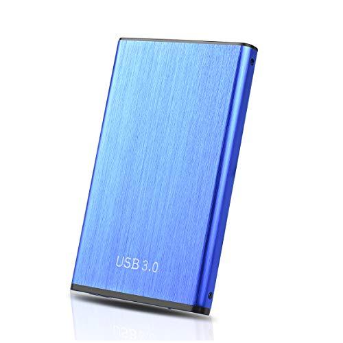 Externe Festplatte 1tb, USB3.0 Portable HDD für PC,TV,Xbox One(1TB,Blau)