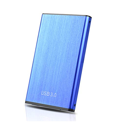 Disque Dur Externe 1 to USB 3.0 pour PC, Mac, MacBook, Xbox One(1To,Bleu)