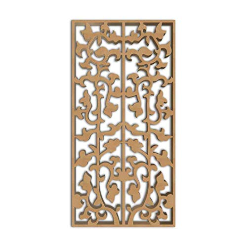 Buy Bargain NISH! Ornamental Decorative Carved MDF Wood Wall Panels for Room Partition, Screen, Divi...