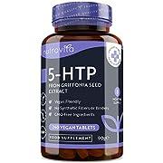 5HTP - 400mg Griffonia-Samenextrakt - 240 vegane Tabletten - für 8 Monate mit maximaler Stärke 5-HTP - Hergestellt von Nutravita