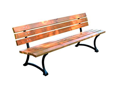 ROJAPLAST 243 Holzterrasse Gartenbank, Glossy Pine, 180 x 56 x 75 cm