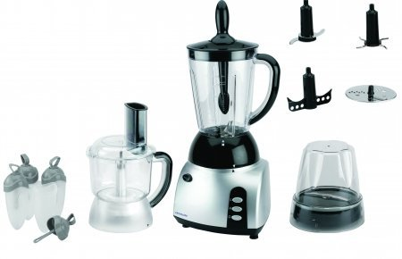 Frigidaire FD5115 Stainless Steel 3-in-1 Food Processor with Blender, 220 Volts