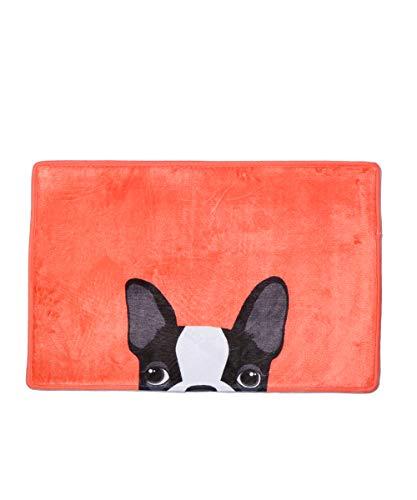 Nayo The Corgi - Anti-Slippery Frenchie French Bulldog Indoor/Outdoor/Kitchen/Bath Doormat Door Mat (Orange)