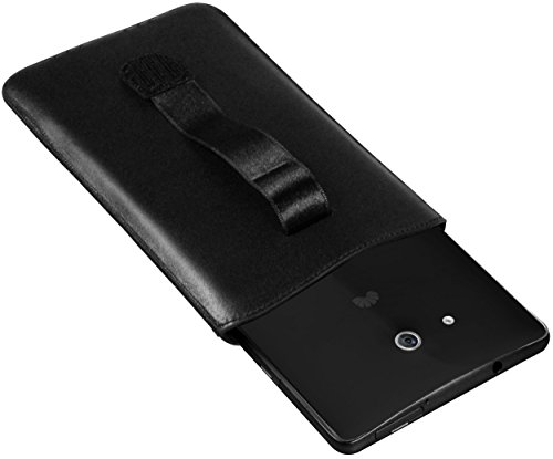 mumbi Echt Ledertasche kompatibel mit Huawei Ascend Mate Hülle Leder Tasche Case Wallet, schwarz - 5