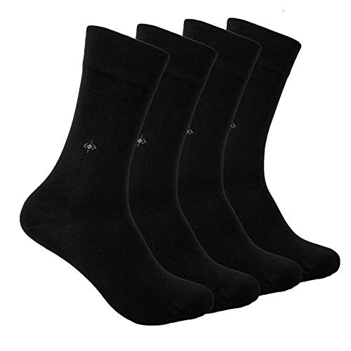 BAMBOO SOCKS Natural Comfortable Soft Classy - Made In TURKEY for Men Women Dress or Casual Footwear (Black)