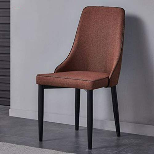 WRJ Dining Room Chairs,of Upholstered Chair Linen Living Grey Fabric with Backrest Sponge Metal Legs Load Capacity Kitchen Back Rest Velvet Seat Cushioned,4