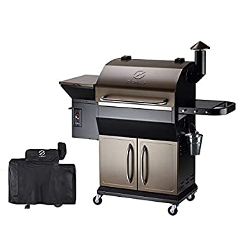 Z GRILLS 2021 Upgrade Wood Pellet Grill and Smoker 1000 sq in area 20LB Hopper 8-in-1 Grill Smart Digital control feeding Pellets  ZPG-1000D  Free Cover
