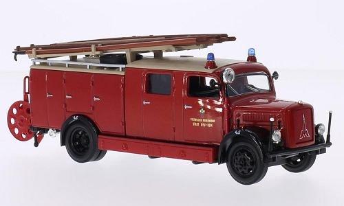 Magirus Deutz S 3000 SLG, Freiwillige Feuerwehr Neu Ulm, 1941, Modellauto, Fertigmodell, Lucky Die Cast 1:43