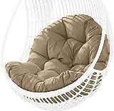 AOUZE Cojín for sillón Colgante - for Exterior - Interior - Jardín - Terraza - Sillón Colgante - Cojín for sillón mecedor - 90 × 120 cm (Color : Kaki)