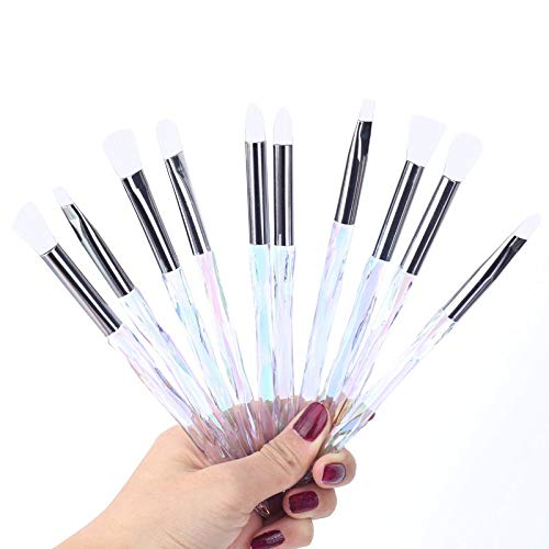 Set de maquillage Brosses surligneur cosmétiques professionnels cils naturels Sourcils fard à joues Outil Eyeliner éponge Kit doux en poudre (Handle Color : I)