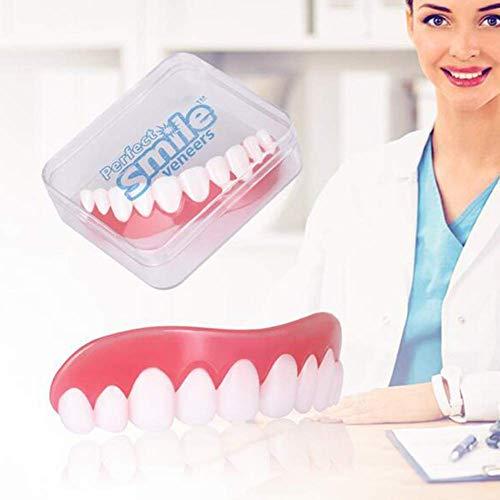 WSJ 6-teilige Sofortverblendungsprothesen für fehlende Zähne Temporäre kosmetische Zahnverblendungen für Männer und Frauen