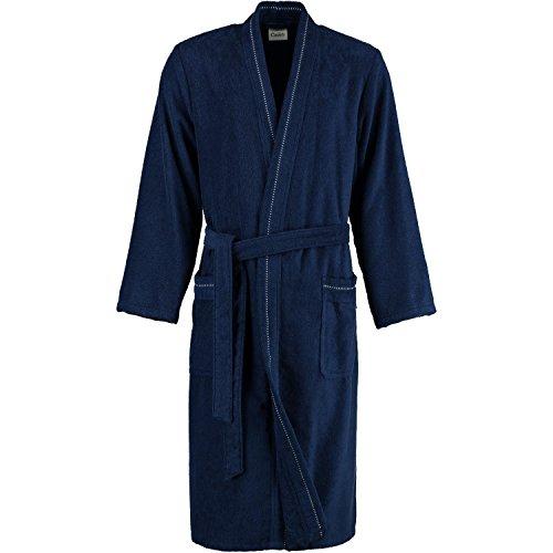 Cawö Home Bademantel Herren Kimono 4511 Navy - 133 schlanke Größe 110