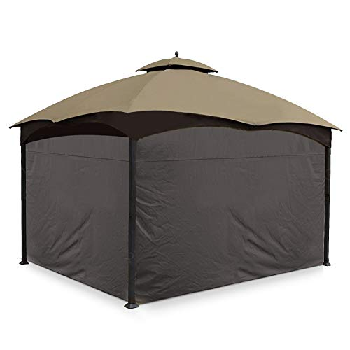 Gafrem 4 Pack Gazebo Universal Replacement Privacy Curtain Panel Side Wall fits 10'x10' and 10'x12' Gazebos (10'x12' Feet, Brown)