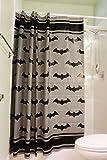 JPI Batman Emblem Hush Duschvorhang – Duschvorhang 190 x 190 cm – ungiftig, umweltfre&lich, kein chemischer Geruch, LiBa EVA 8G Material