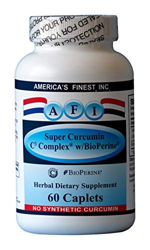 AFI Super Curcumin C3 Complex w/ BioPerine, 95 %, 1000mg, 60 caplets