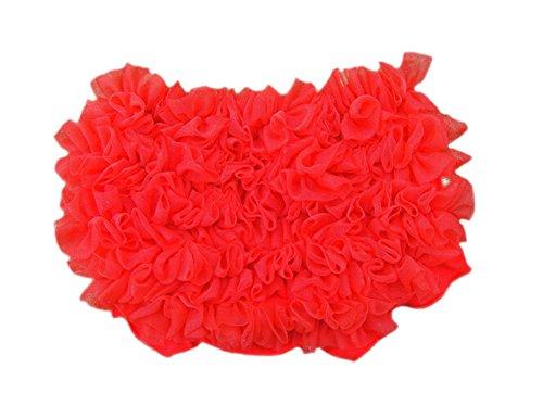 DELEY bebés sólido del cordón Bloomers de la Colmena Resume Las Bragas pañal Cubiertas Rojo M