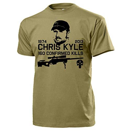 American Sniper Scharfschütze Navy Seal Team 3 Seals T Shirt #15937, Größe:M, Farbe:Sand