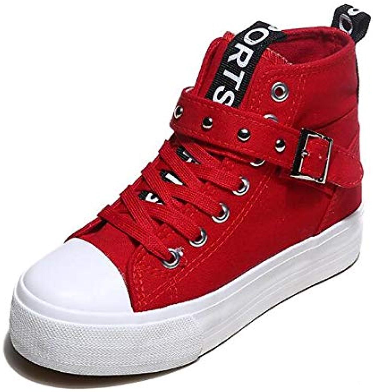 Woherrar skor duk Springaa Springaa Springaa  Fall Comfort skor Low Heel svart  röd   blå  stor rea