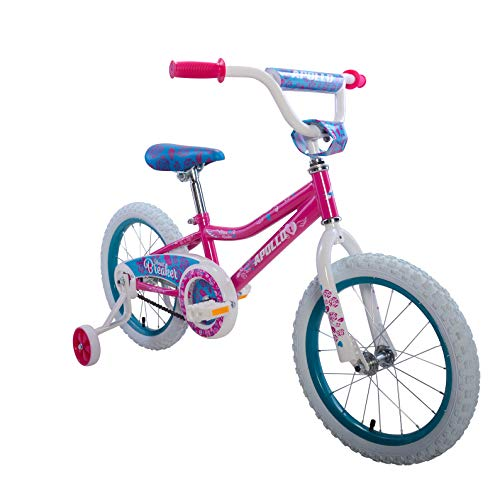 Apollo Heartbreaker 16 inch Kids Bicycle, Ages 4 to 7, Height 36 to 50 inches, Magenta