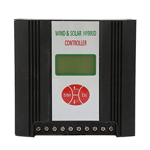 Controlador de Carga Híbrido Solar Eólico, 12V Regulador de Carga Eólica con Pantalla LCD Sistema de Panel Solar a Prueba de Agua (Viento:300W/400W Solar:150W)(Viento 300W + Solar 150W)