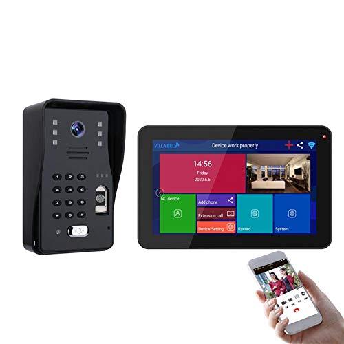 "QXue 8 9"" HD Monitor Video Doorbell Intercom Kits System with IR Night Version Wide Angle AHD 1080P Video Camera,Support Remote Unlock,Monitoring,Recording,Snapshot"
