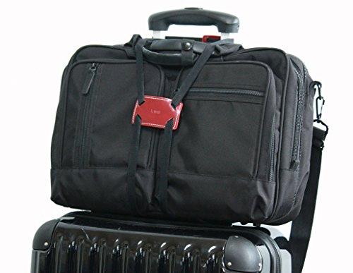 (フォーパリー) Foppery バッグ 固定 ベルト スーツケース 上の サブバッグ の 固定に活躍 ずり落ち 防止 コンパクト 調整可能 旅行便利グッズ (ワイン)