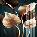 QVQIU Nordic Plant Leaf Canvas Painting Posters and Print Leaves Estilo Moderno Art Pasillo para Sala de Estar Dormitorio Decoración No Frane 21X30 CM