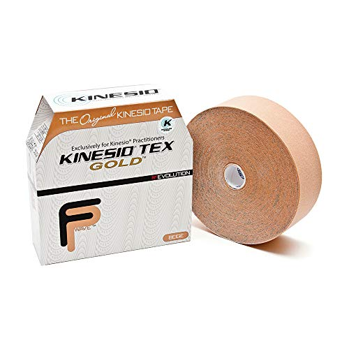 Kinesio Taping - Elastic Therapeutic Athletic Tape Tex Gold FP - Bulk Roll - Beige – 2 in. x 103 ft