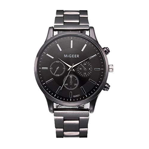 WoWer Uhren Herren Mode Chronographen Analoger Quarz Edelstahl Wasserdich Schwarze Quartz Milanaise Mesh Armband Geschäft Casual Datum Uhr Blau