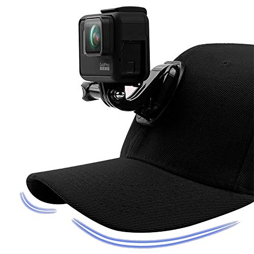 Black Canvas Baseball Hat Cap For Gopro Hero 7 6 5 Black dji Osmo J-Hook Buckle Mount For Xiaomi Yi...