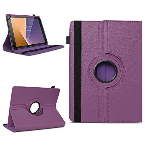 Tasche für Vodafone Tab Prime 7 Tablet Hülle Schutzhülle Hülle 360° Drehbar Cover, Farben:Lila