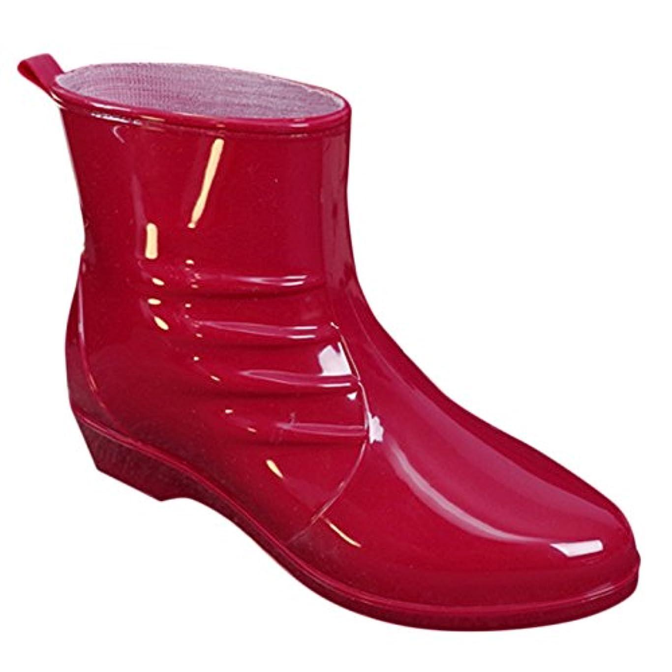 に話す放棄窒息させる[MITSUHA] レディース レインシューズ 防水雨靴 ショート丈 スクエアヒール