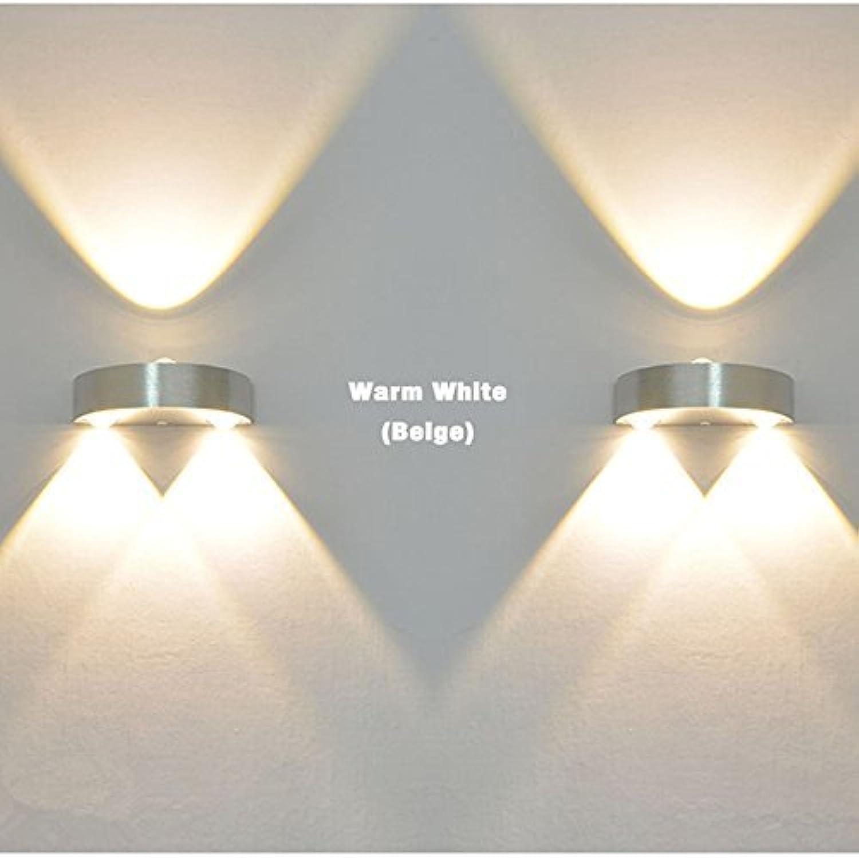 3W LED Indoor Wandlampe AC110V   220V Schlafzimmer Decora (Farbe  warmes Licht)