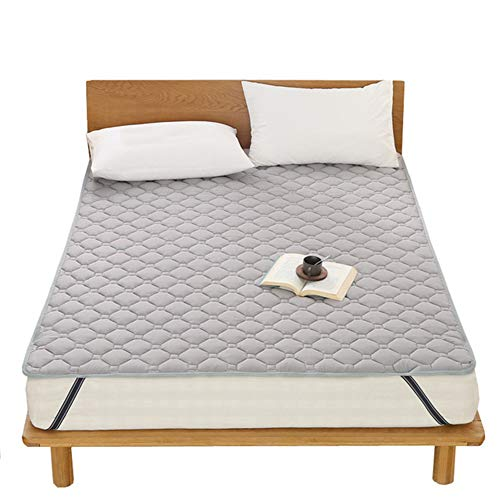 SJH 3D Breathable Thin Cushion,tatami Mattress,healthy And Comfortable Fabric,Washable Non-slip Mattress,foldable,warm And Thick,you Can Enjoy A Fresh Sleep(Color:gray,Size:180x200cm)