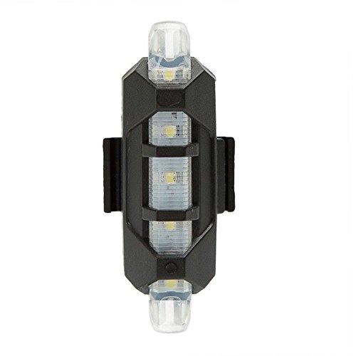 TriLance 1PC Rücklicht Fahrrad LED Fahrradlicht Rücklichter USB Aufladbar Batterie Wasserdicht für Rennrad MTB Zum Nachtreiten Fahrradlicht Fahrradbeleuchtung Fahrradlampe für Radfahren (Weiß)
