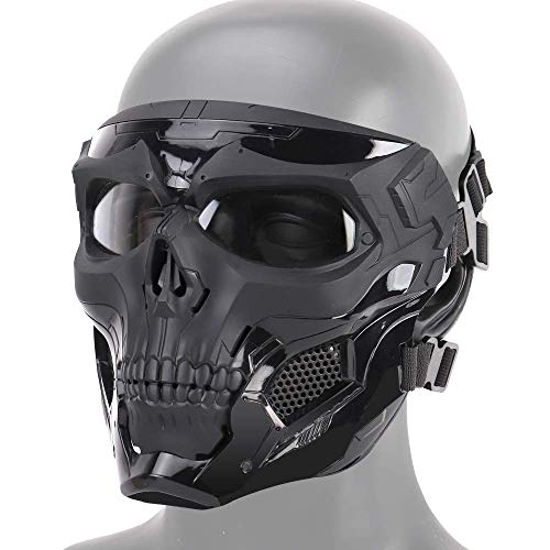 Airsoft crâne intégral Masque de Protection Airsoft Paintball en Plein air CS Guerre, Masque de Balle de Mascarade Halloween