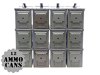 U.S. Military M2A1 50 Cal Ammo Cans (12 Pack)